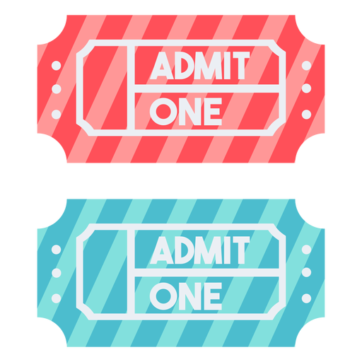 Carnival tickets color Transparent PNG