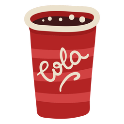 Cola cup drink color