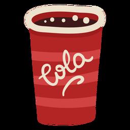 Color de bebida de copa de cola