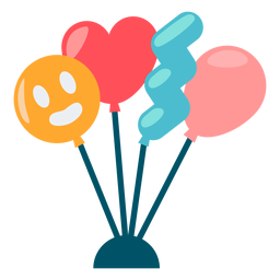 Cute balloons color
