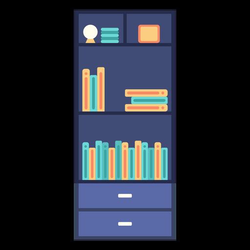 Furniture bookshelf flat Transparent PNG