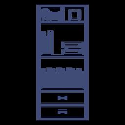 Furniture bookshelf monochrome