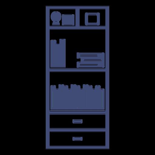 Furniture bookshelf monochrome Transparent PNG