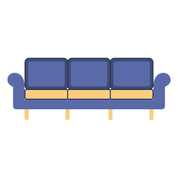 Furniture couch flat
