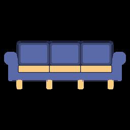 Muebles sofá plano