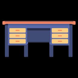 Escritorio de muebles plano