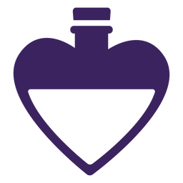 Botella de corazones