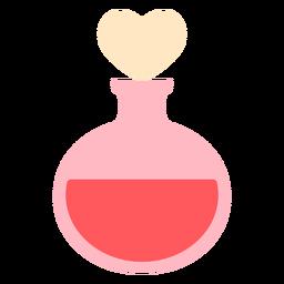 Hearts bottle round color