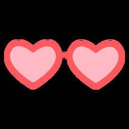 Color de gafas de corazones