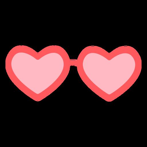 Hearts glasses color