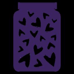 Tarro de corazones