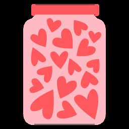 Color de tarro de corazones