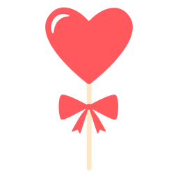 Color de arco de piruleta de corazones