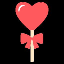 Color de lazo de piruleta de corazones
