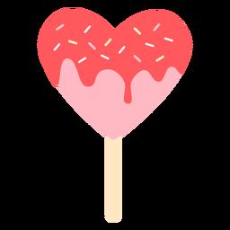 Color de piruleta de corazones