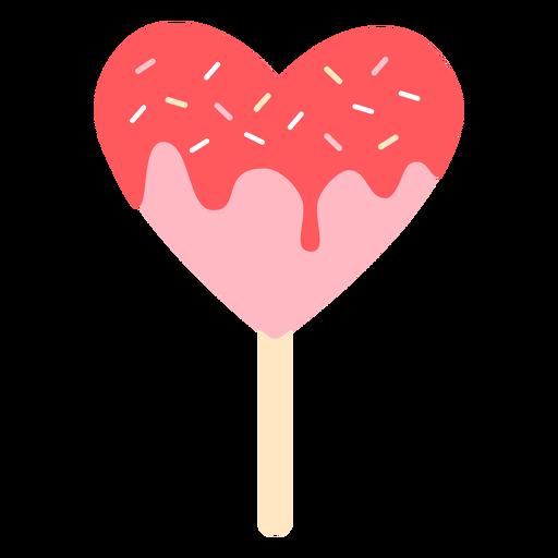 Hearts lollipop color