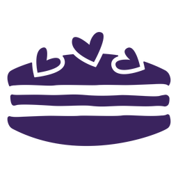 Hearts macaron