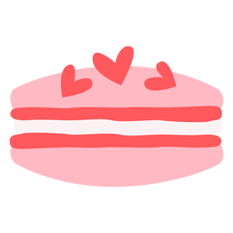 Corazones macaron color