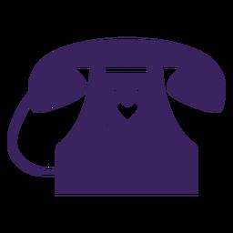 Telefone corações