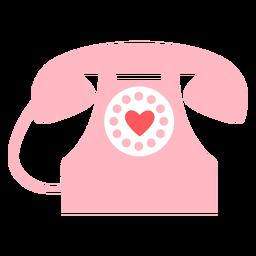 Cor do telefone de corações