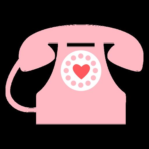 Color del teléfono de corazones