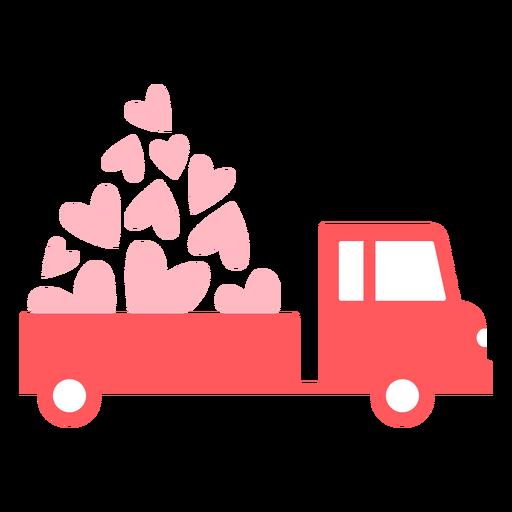 Color del carro de corazones