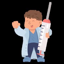 Hospital doctor syringe flat