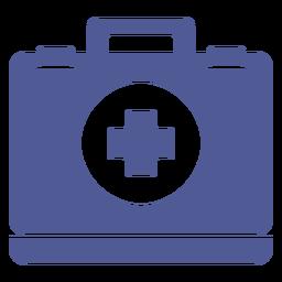 Cuadro médico hospitalario monocromo