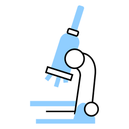 Color del microscopio del hospital