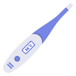Hospital thermometer flat