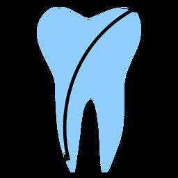 Color del diente del hospital