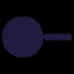 Vista superior de la sartén de utensilios de cocina