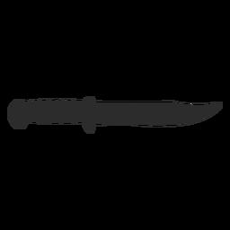 Silueta de combate de cuchillo