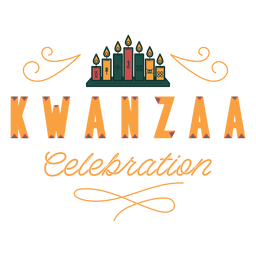 Kwanzaa Feier Schriftzug Kwanzaa