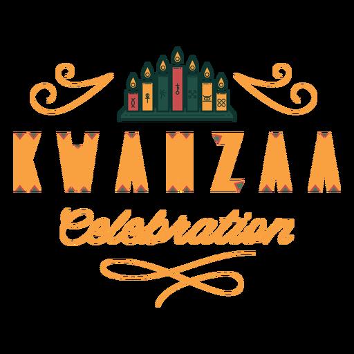 Kwanzaa celebration lettering kwanzaa