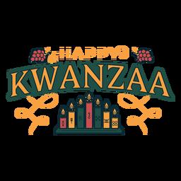 Letras de velas felices de Kwanzaa