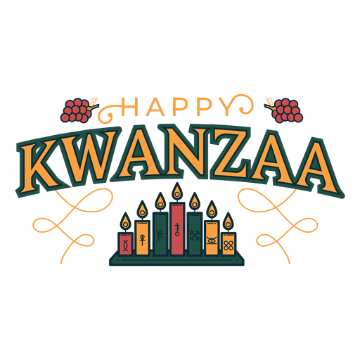 Kwanzaa happy candles lettering