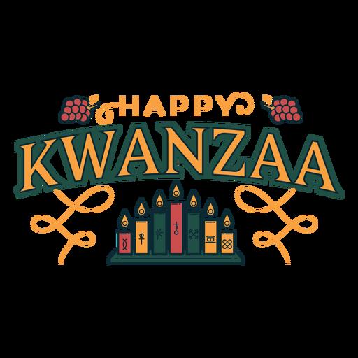 Letras de velas felices de Kwanzaa Transparent PNG