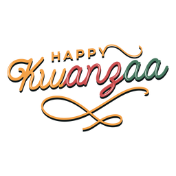 Kwanzaa happy lettering