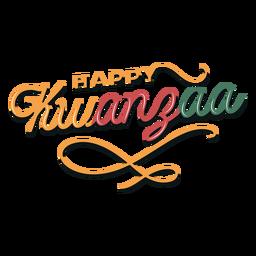 Letras felices de Kwanzaa