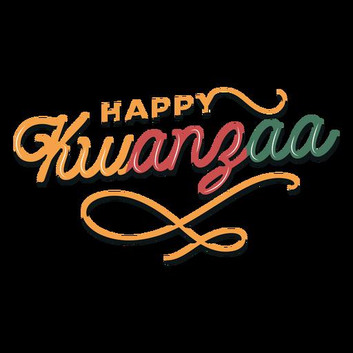 Kwanzaa happy lettering