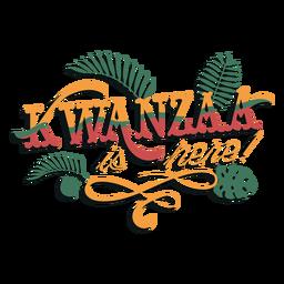 Kwanzaa hier Schriftzug