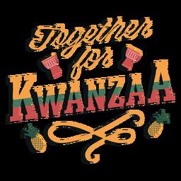 Letras de Kwanzaa juntas