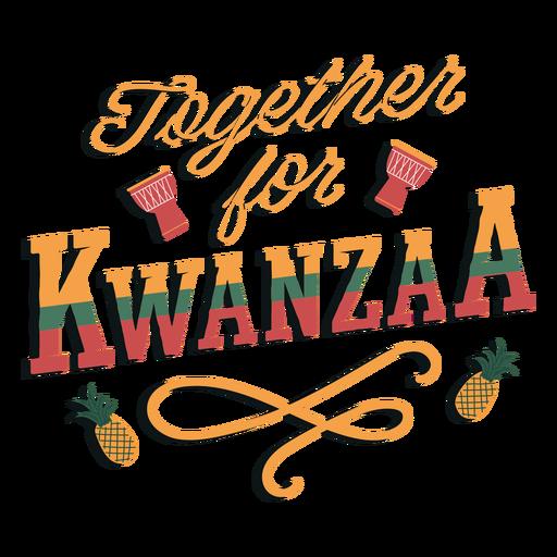 Letras de Kwanzaa juntas Transparent PNG