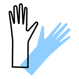 Color de guantes médicos