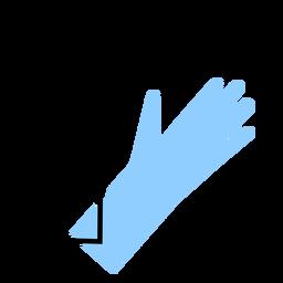 Color del guante médico
