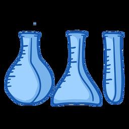 Equipo de enfermería vasos de precipitados color