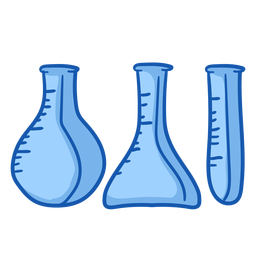 Nurse equipment beakers color
