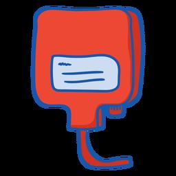 Color de la bolsa de sangre del equipo de enfermera