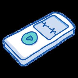 Krankenschwester Ausrüstung Kardiograph Farbe